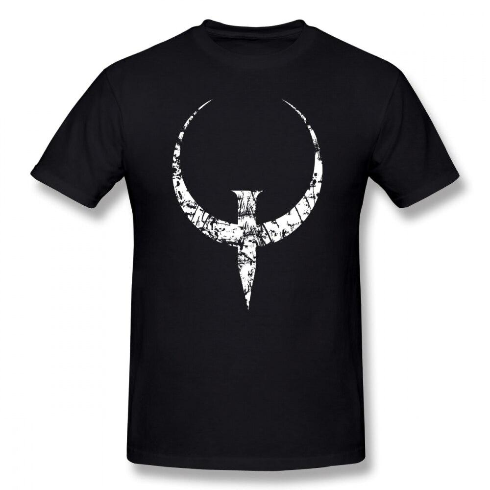 Quake T Shirt Quake White T-Shirt Graphic 100% Cotton Tee Shirt Men Short Sleeve Classic Cute Tshirt