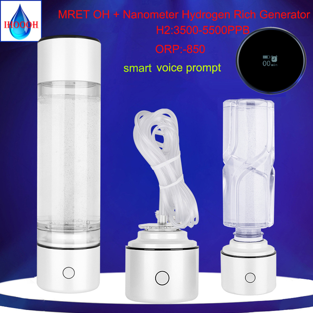 Mretoh 7.8hz alta hidrogênio rico milagre inteligente alcalino copo nano lonizer h2 gerador garrafa de eletrólise multifuncional