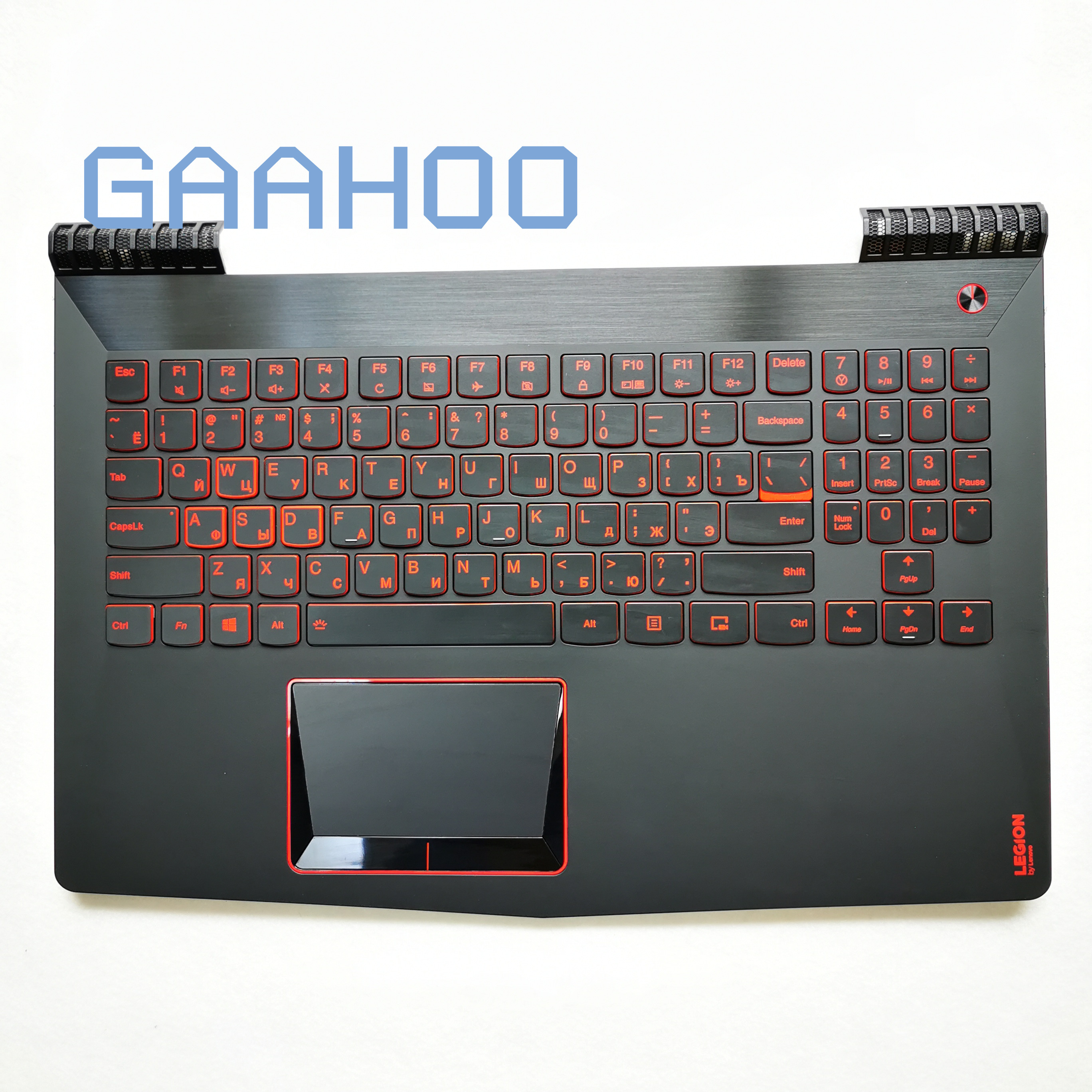 RU Russian Backlit Keyboard Case  For Lenovo Legion R720 Y520 R720-15IKB Palmrest COVER UPPER CASE W/ RED Keyboard And Touchpad