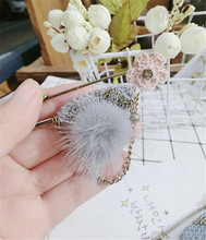 CX-Shirling Flower Rabbit Fur Quality Brooches Antique ChainTassel Pendant Pin For Coat Hat Scarf Jewelry Gifts