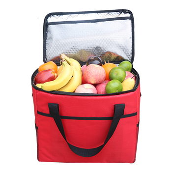 Przenośna torba na chłodnia obiadowa składana izolacja piknik worek na lód torba izolacyjna na żywność torba izolacyjna na owoce torba izolacyjna na żywność tanie i dobre opinie lanqiduo CN (pochodzenie) gray