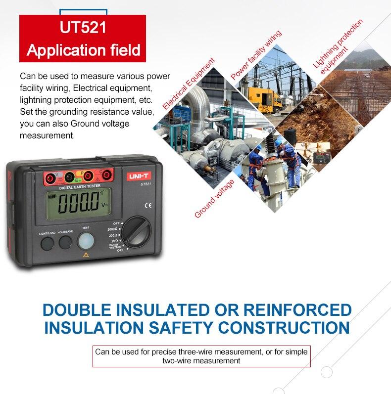UNI-T ut521 digital tela digital 0-200 v
