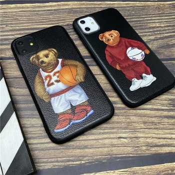 Italy bear soft case for iphone 12 mini 11 pro x xs max xr 8 7 6 6s plus SE 2 leather phone cover Leisure Sports coque fundas image