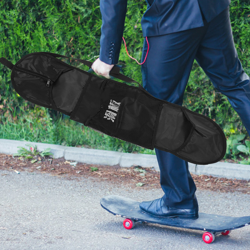 Free Shipping Long Skateboard Bag Oxford Cloth Skateboard Bag Skateboard Carrying Case Shoulder Travel Longboard Backpack New