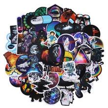 50PCS Outer Space PVC Waterproof Creative Stickers Skateboard Suitcase Guitar Children Graffiti Sticker Kids Toy Decal