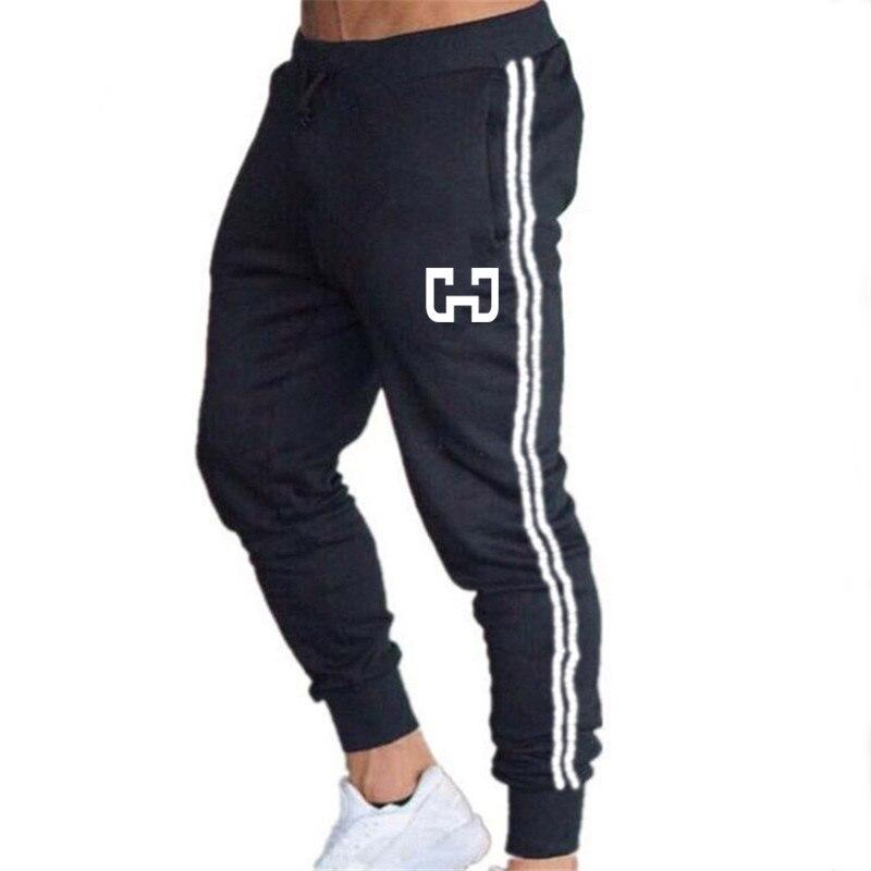 Summer Fashion Pocket Men's Slim Fit Striped Sport Sweatpants Straight Leg Trousers Casual Pencil Jogger Casual Pants Trousers