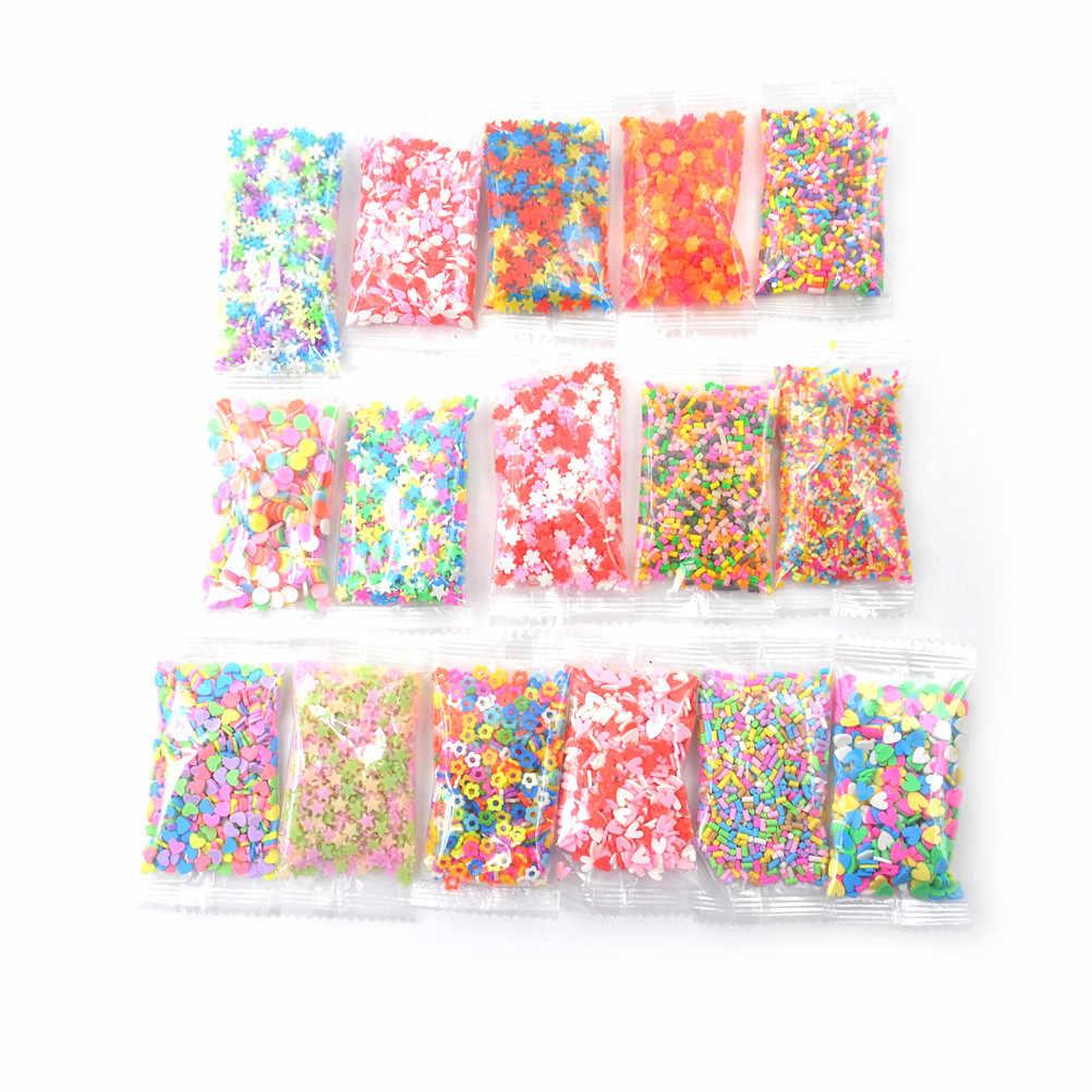 10/500/1000 adet DIY balçık balçık ekleme yumuşak Fimo meyve dilimleri için Charms boncuk DIY tırnak cep güzellik tozu çin'de balçık Sprinkles