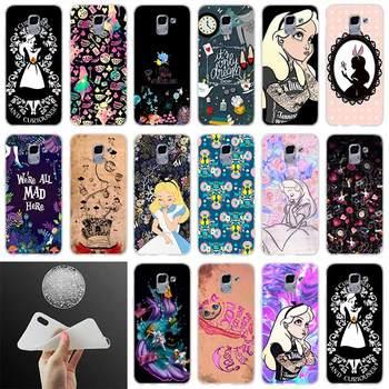 Funda suave para teléfono Alicia en el país de las Maravillas punk para Coque Samsung Galaxy J6 J4 J8 J7 2018 Plus J3 J5 J7 Prime Pro 2017 2016 Casse