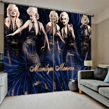 High quality custom 3d curtain fabric  roman Beautiful girls curtains for bedroom blackout