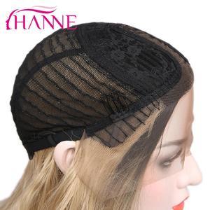 Image 5 - Hanne brown/loira ombre peruca longa ondulado resistente ao calor fibra peruca de cabelo sintético perucas da parte dianteira do laço para a mulher preta/branca