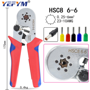 Image 4 - YEFYM HSC8 6 4/6 6 Crimping Pliers Kit YE 1R Stripping Cutting Plier with 1020pcs/box Tube Terminal Suit Electric Tools Set