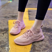 Casual Women Shoes Solid Black Simple Style Wedge Sneakers Hard-wearing Increase Female 2019 New Spring C0003
