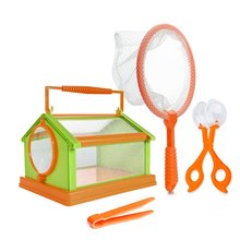 insect viewer science educational toys Portable DIY children insects cage Bug box Butterfly Habitat Folding Outdoor adventure ga