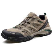 HUMTTO Mens Leather Outdoor Hiking Trekking Shoes Sneakers For Men Sport Climbing Mountain Camping Man