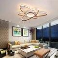 Новый дизайн  современные светодиодные потолочные светильники для гостиной  спальни  кабинета  дома  цвет кофе  потолочный светильник  плаф...