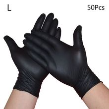 50pcs Disposable Nitrile Gloves Powder-Free Protective Glove Dishwashing Home Kitchen Cleaning Textured Grip