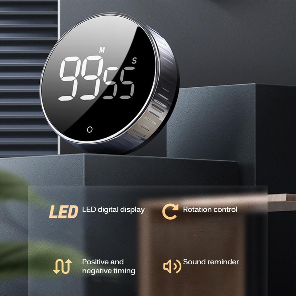 СВЕТОДИОДНЫЙ цифровой таймер для кухни и душа, учебный секундомер, будильник, магнитный электронный таймер обратного отсчета