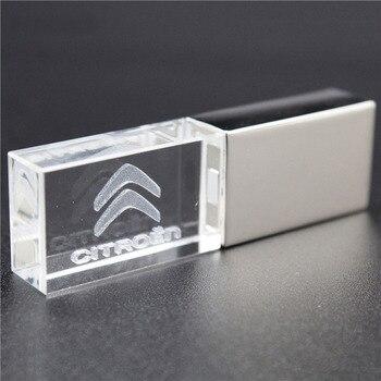 crystal+metal Citroen kye model USB Flash Drive 4GB 8GB 16GB 32GB precious stone pen drive special gift