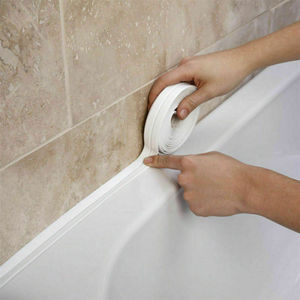 1 Roll 3.2mx22mm Bathroom Shower Sink Bath Sealing Strip Tape PVC Self Adhesive Waterproof Wall Sticker for Bathroom Kitchen(China)