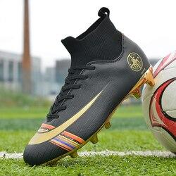 Korki dla mężczyzn dzieci kryty piłkarskie trampki Turf Spike Superfly Futsal oryginalne wygodne buty wodoodporne buty piłkarskie