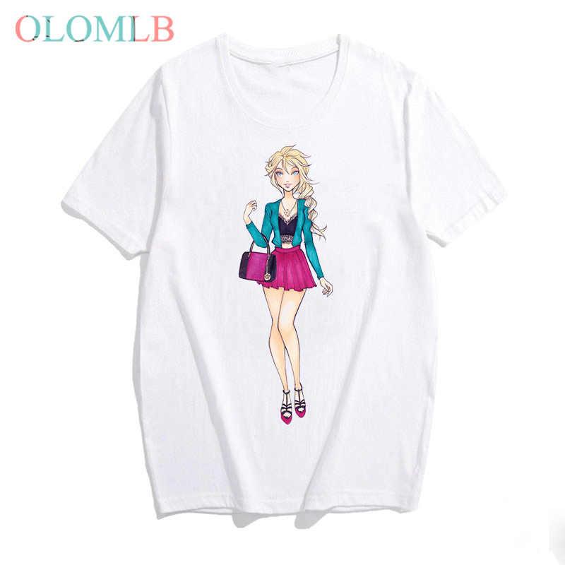 姫高校おかしい Tシャツ女性夏原宿韓国服かわいいプリントストリートトップス Camisetas Verano に Mujer