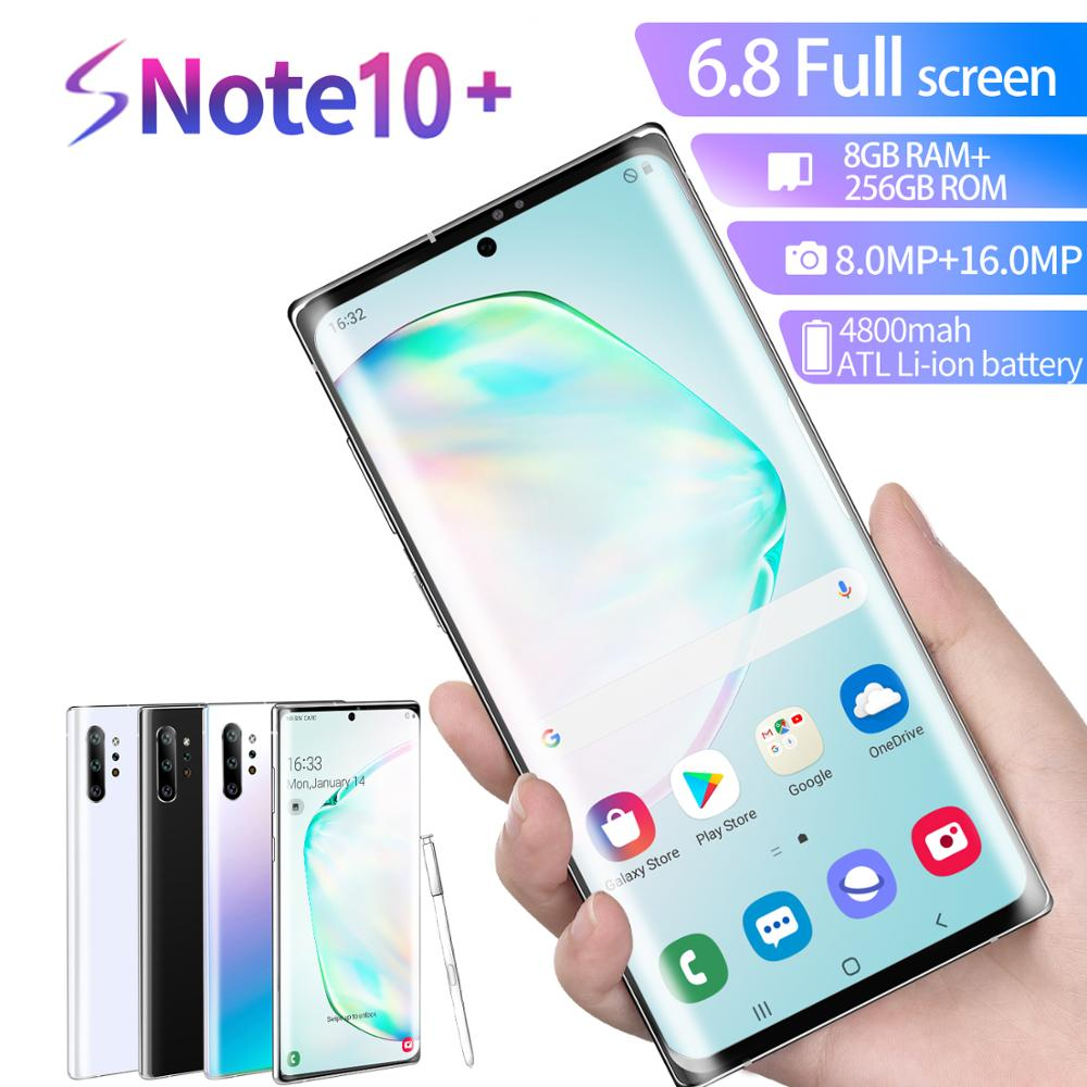 2020 Global version 6.8 inch Galay Note10 smartphone 8GB RAM 128GB ROM Android 9.0 4800mah Snapdragon 855 4G LTE NFC Phones(China)