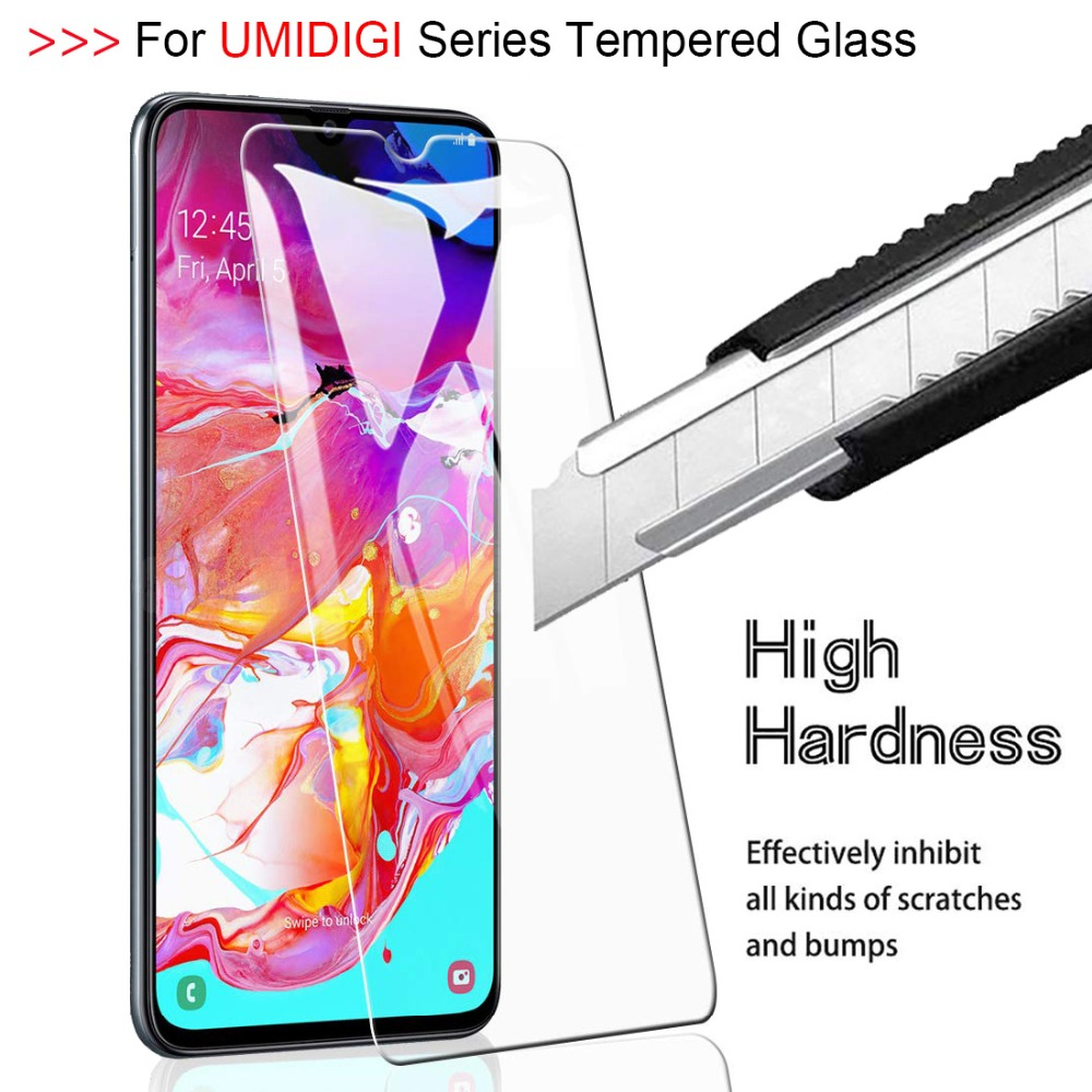 Vidrio Templado 9H 2.5D para UMIDIGI F1 Power PLAY One Max A5 Pro Protector de pantalla HD para UMIDIGI F1 S3 película protectora Pro