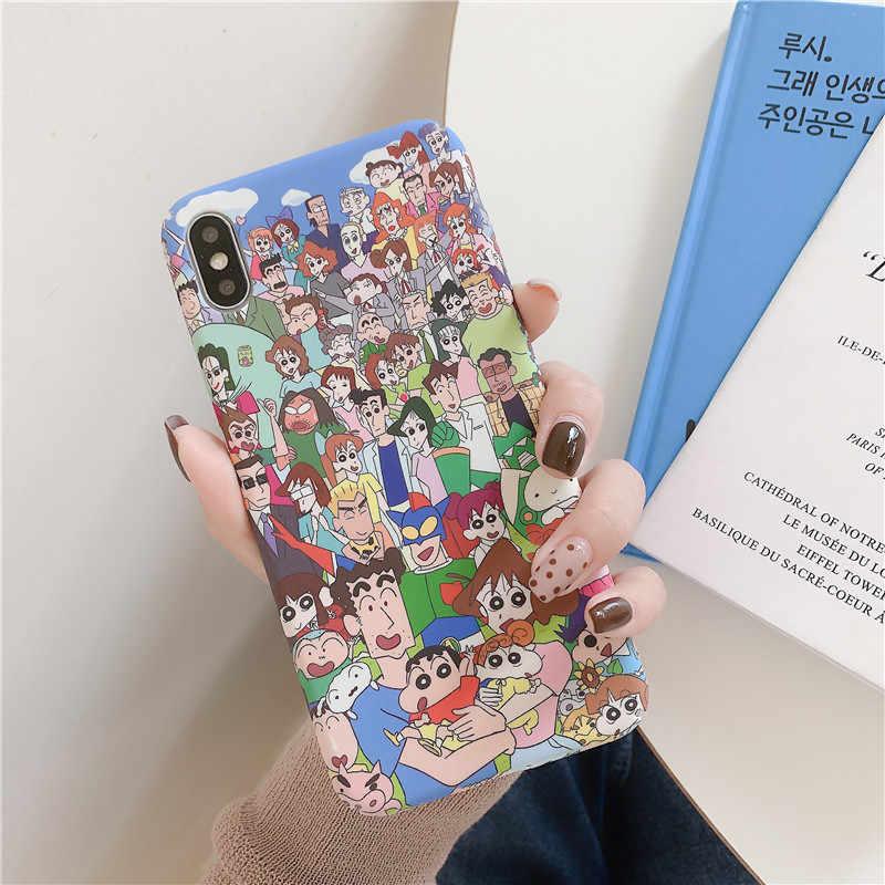 日本アニメクレヨンしんちゃんウルトラマン電話ケース iPhone11 プロ Max X XS 最大 XR 8 7 6 S プラスハードプラスチックバックカバー Fundas