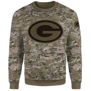 Lue's House Fashion 3D Military Appreciation Football Sweatshirts