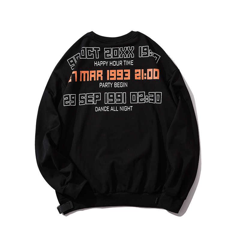UNCLEDONJM charakter kolorowe bluza z nadrukiem Streetwear swetry bluza modne kobiety marka odzież 623W