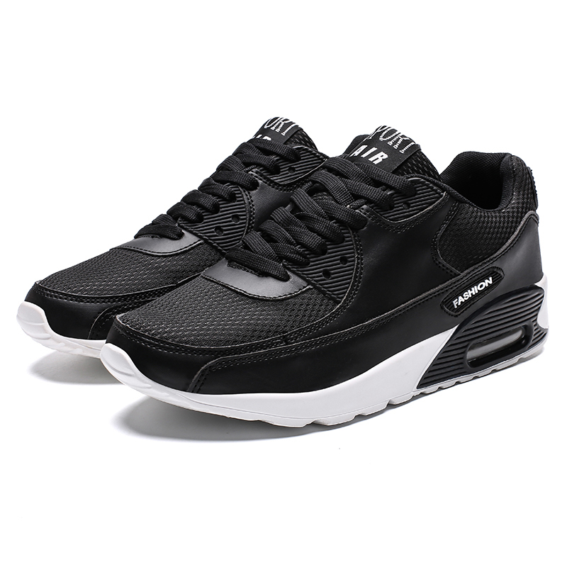 2019 Couples Sports Sneakers Air Cushion Women Men Jogging Shoes Comfortable Trainers For Running Lace Up Running Shoes Cheap