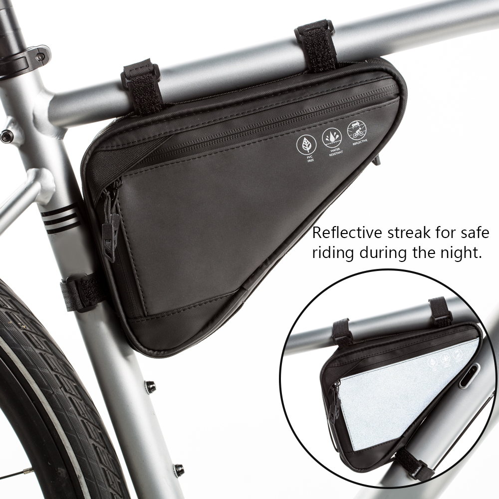 Sacs de vélo de cyclisme Tube supérieur sac de cadre avant étanche vtt route Triangle sacoche Tube vélo portable sac de téléphone portable