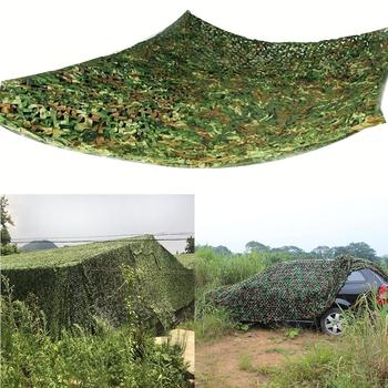 3*4M/3*3M/4*5M Outdoor Hunting Shooting Fishing Camouflage Woodland Jungle Camping Camo Tarp Cover Car Sun Shelter Hide Net 8mx8m woodland camouflage netting military army camo hunting hide camp cover net outdoor camping sun shelter