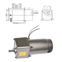DC Gear Motor 12V 24V 90V 16-1066RPM Big Torque High Speed DC Electric Gearbox DM09-5GN 120W High Torque  Permanent Magnet Motor
