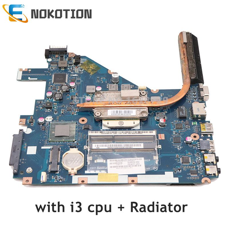NOKOTION PEW71 LA-6582P For Acer Aspire 5742g Laptop Motherboard Repalce 5552 5552g LA-6552P Free Core I3 Cpu With Heatisnk