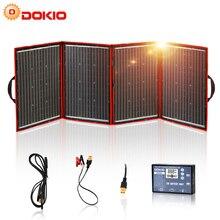 Dokio שחור פנלים סולאריים 200W (50W x 4pc) 18V סין מתקפל 12V בקר פנלים שמש סוללה תשלום מוטורהום RV רכב 18V