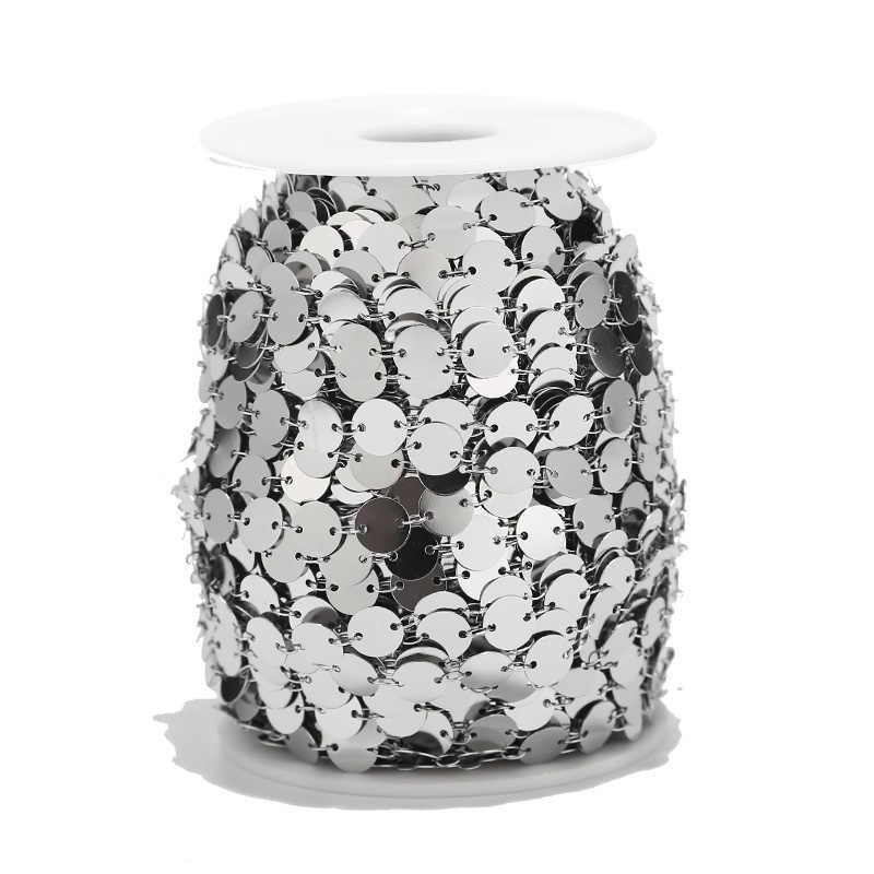 1 Meter 8mm/6mm Edelstahl Runde Disc Ketten Gold Münze Ketten für Halskette Armband Fußkettchen DIY schmuck Machen Liefert