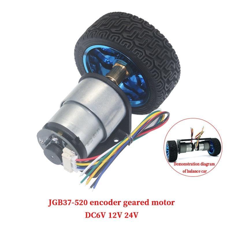 JGB37-520 мотор кодировщика смарт-двигатель автомобиля DC 6V 12V 24V маленький мотор автомобильный комплект мотор скорости