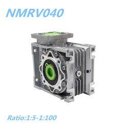 Gratis verzending NMRV040 Worm Reducer 1:5/7.5/10/15/20/25/30/40 /50/60/80/100 Verhouding 14mm input as Versnellingsbak Reducer voor NEMA34