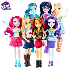 Hasbro My Little Pony Toys Friendship Is Magic Pony Doll Set Twilight Sparkle Rainbow Dash Fluttershy Model Dolls Girl Toy my little pony фигурка fluttershy