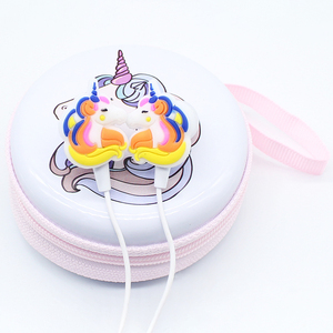 Image 5 - New Children Girl Cartoon Music Earphones Headphones Colorful Unicorn Wired Headset With Microphone Universal For Phone Gifts