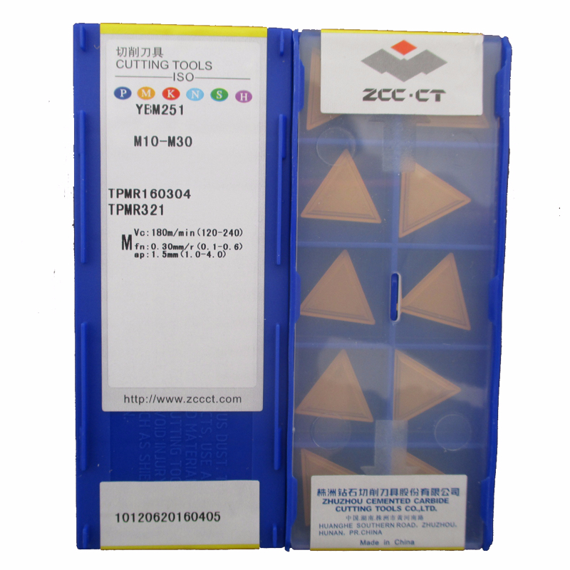 Original ZCC CTTPMR160304 YBM251 Turning Tool TPMR 160304 CNC Tools Lathe Cutter Tools Carbide Inserts