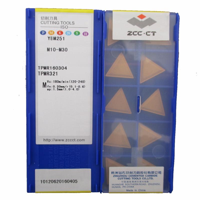 Original ZCC CTTPMR160304 YBM251 Turning Tool TPMR 160304 CNC Tools Lathe Cutter Tools Carbide Inserts