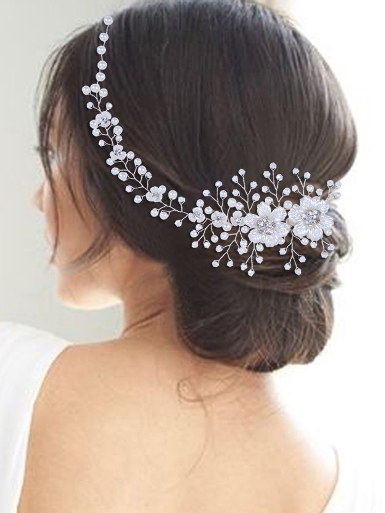 Wedding Headband Tiara Hair-Jewelry-Accessories Flower Pearls Crystal Bride Youlapan