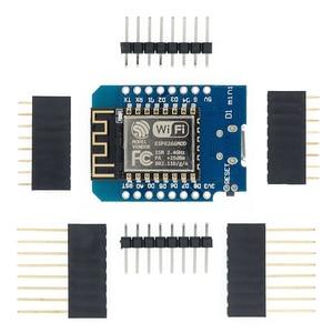 Image 1 - ESP8266 ESP 12 ESP 12F CH340G CH340 V2 USB WeMos D1 Mini WIFI مجلس التنمية D1 Mini NodeMCU Lua IOT مجلس 3.3 فولت مع دبابيس