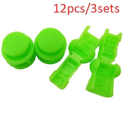 12 Pcs Drawstring Stopper Cord Lock Clamp Toggle Clip Stopper Shoelace Buc C J2