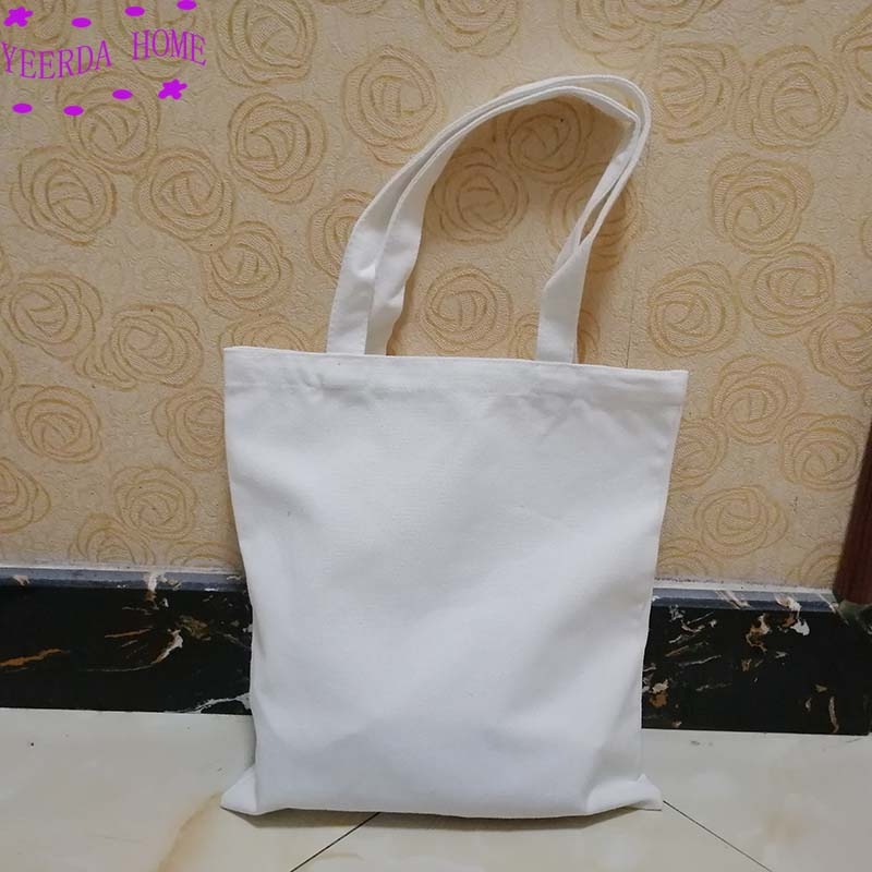 Free printing pattern 12Pcs Blank canvas bag eco bag custom reusable shopping promotional bag 3 Quantities in Storage Bags from Home Garden