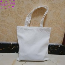 Free printing pattern 12Pcs Blank canvas bag eco custom reusable shopping promotional  3 Quantities