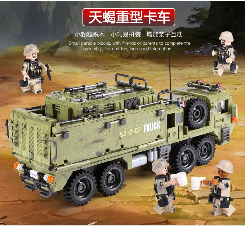 1377Pcs XINGBAO Building Blocks Toys легоe military 06014 Cross The Battlefield Series Bricks Truck Model Gift for Children 4PX 23
