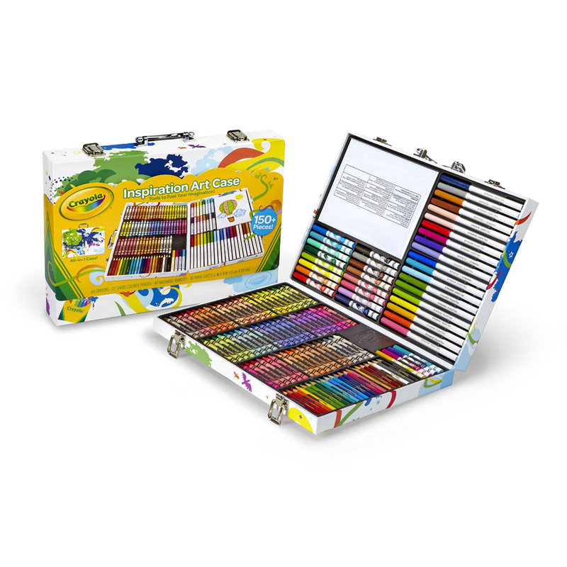 Crayola Small Artists Fine Art Toolbox Creative Show Collection Gift Box Watercolor Pen Gift Box